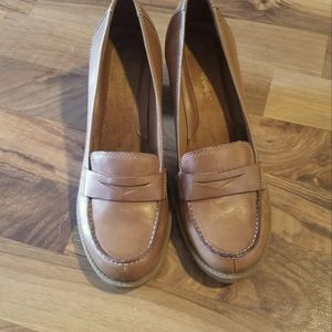 Hush Puppies Leather Jada Shoes Size 8M